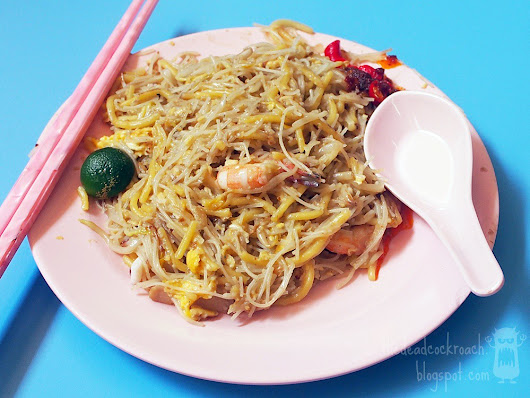 Fried Hokkien Prawn Mee 海南福建炒蝦麵 @ Golden Mile Food Centre