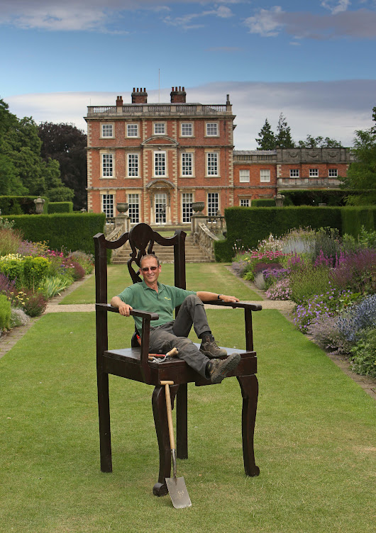 Gardening PR - Newby Hall & Gardens giant chair