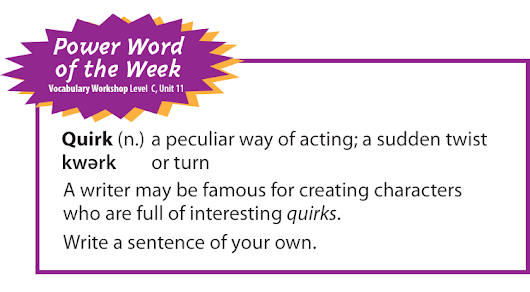 Power Word of the Week: Quirk