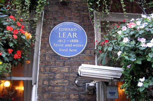 UK - London - Marble Arch: Edward Lear Hotel - Edward Lear blue plaque