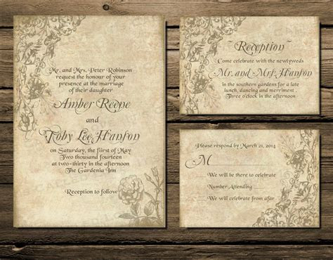 Printable Wedding Invitation Download, Invite, RSVP Info