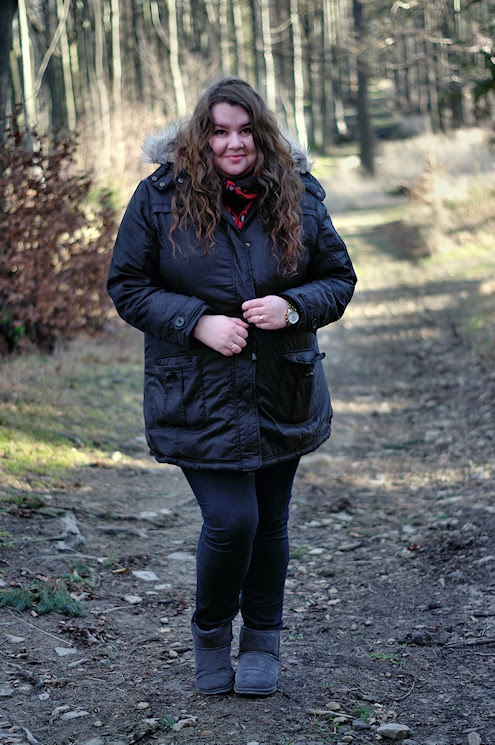 Große Größen Plus Size Fashion Blog black parka kik