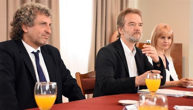 Marcos Salt y los expertos europeos Alexander Seger y Cristina Schulman