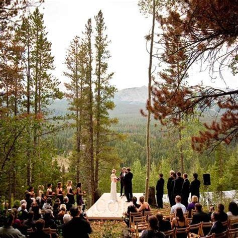 The ceremony spot backed up to The Arapaho National Forest
