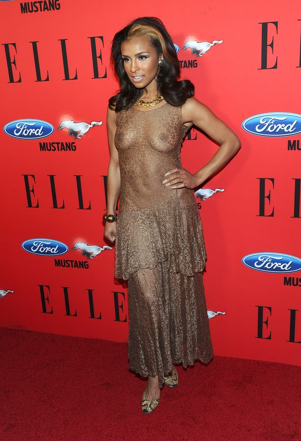 Melody Thornton no 'ELLE Women In Music' em Los Angeles, nos Estados Unidos (Foto: Getty Images/ Agência)