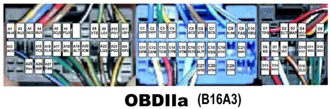 02 Oxygen Sensor Pinout On The Ecu Obd2a Honda Tech Honda Forum Discussion