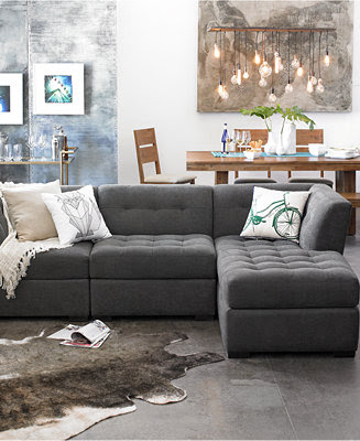 Roxanne Fabric Modular Living Room Furniture Collection ...