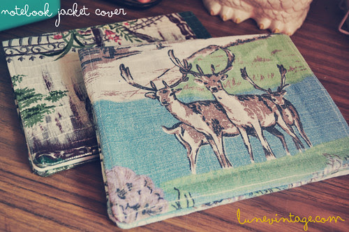 notebook jacket with deer