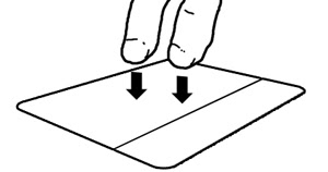 Two finger trackpad click