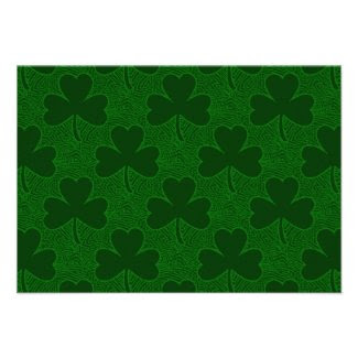 Shamrocks Personalized Invitation