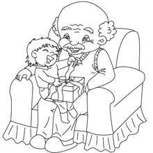Dibujos Para Colorear Ahijado Y Abuelo Eshellokidscom