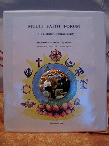 Multi Faith Forum at the Buddha Vihara, Kings Bromley