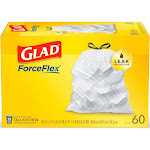 Glad Tall Kitchen Drawstring Trash Bags - OdorShield 13 Gallon Gray Trash Bag - 60ct