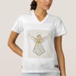 Gold Christmas Angel of Grace Light Rays
