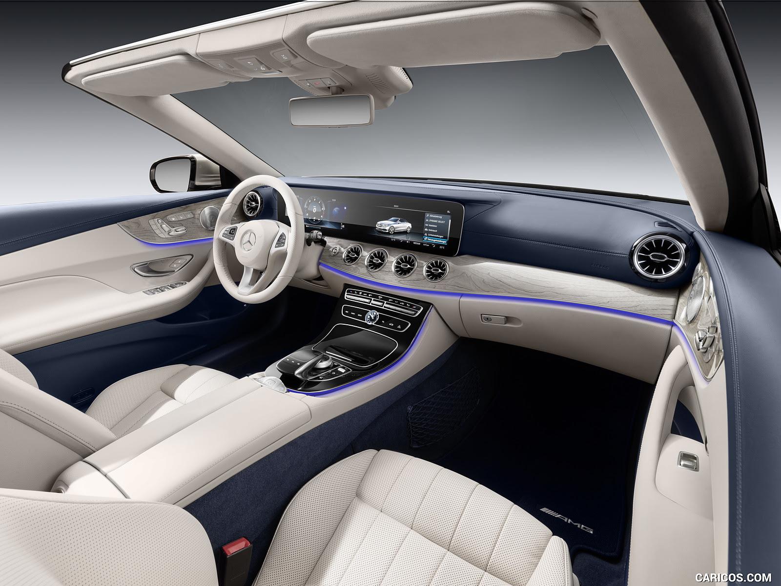 2018 Mercedes-Benz E-Class Cabrio - Yacht Blue / Macchiato Beige Interior   HD Wallpaper #81