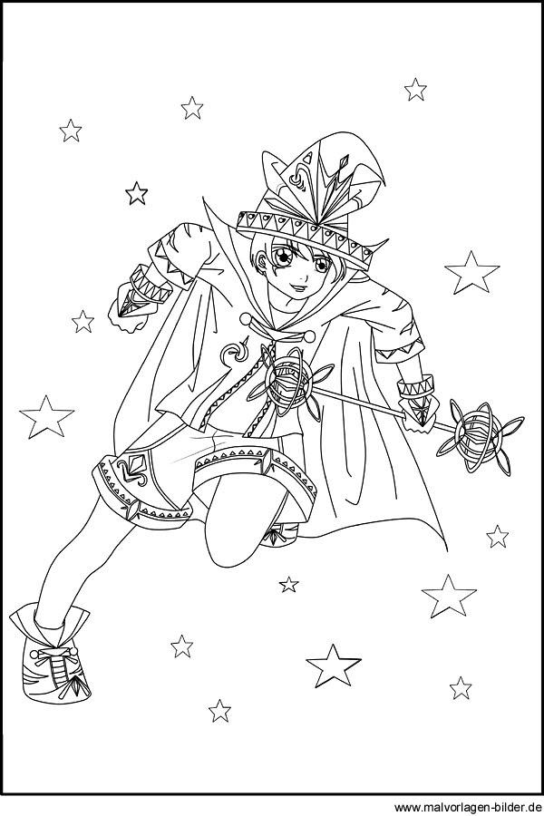 Manga Bild mit einem Zauberer als gratis Vorlage