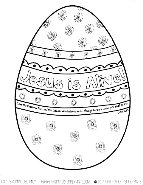 Cool Easter Egg Coloring Sheet