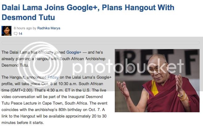 dalai lama google+