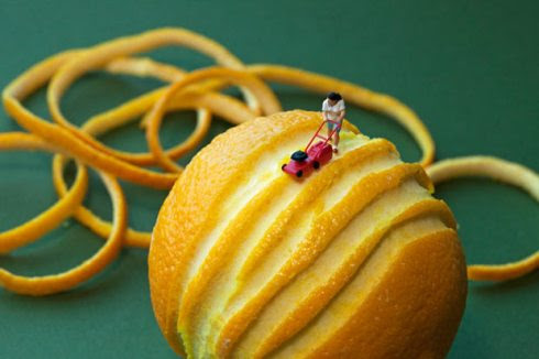 Christopher Boffoli, Big Appetites, Disparity, Edible Worlds, contemporary photos of figurines on food