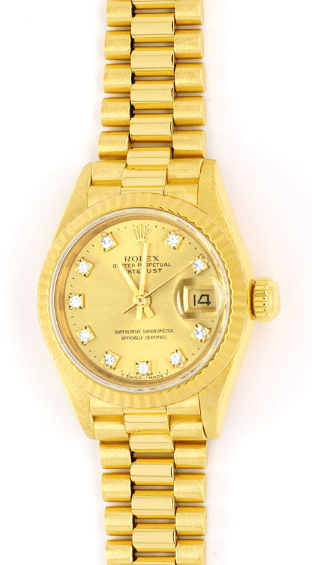 Originalfoto ROLEX DATEJUST DAMEN GOLD, DIAMANT-ZIFFERBLATT, 13.825€
