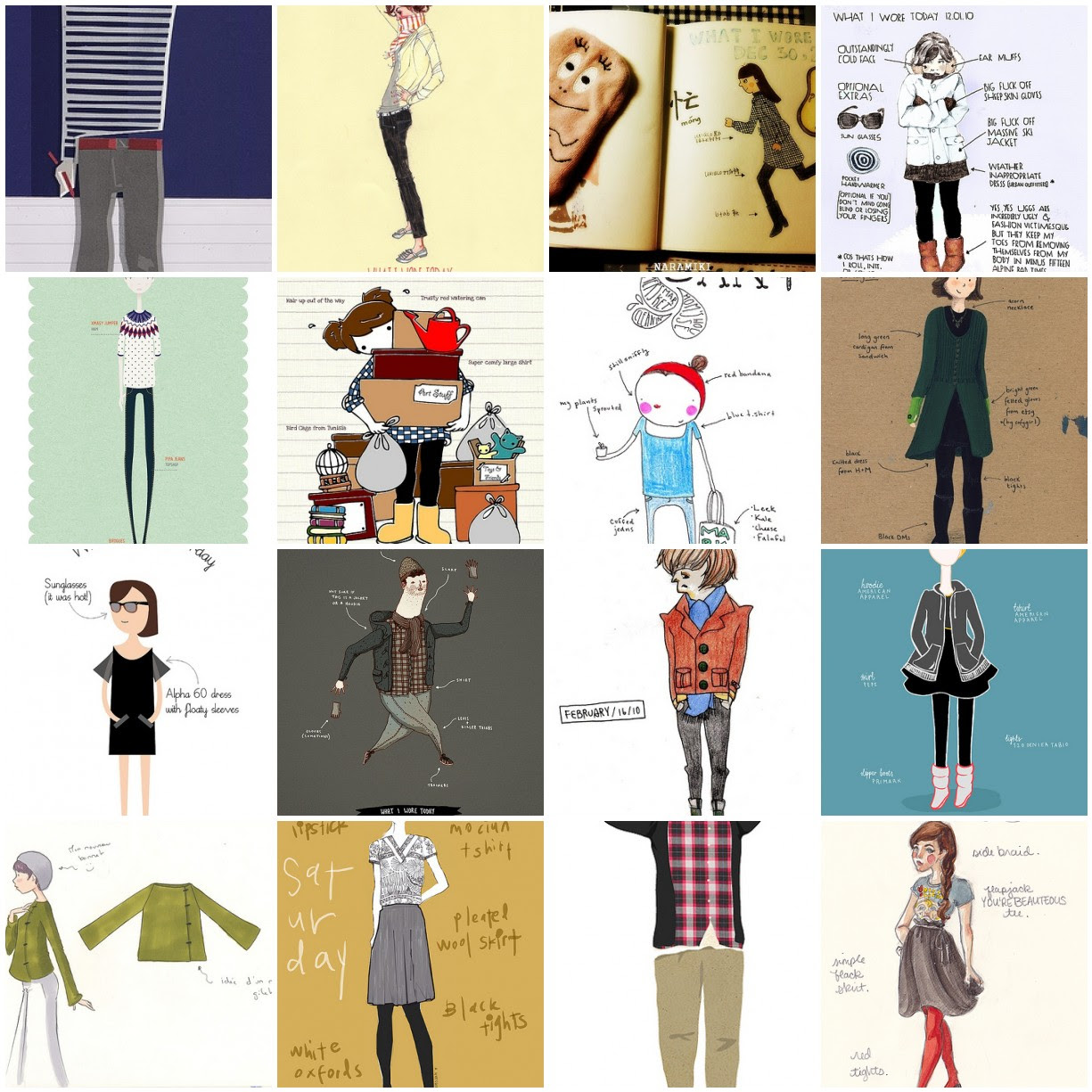 what i wore - illustrations
