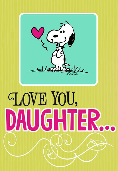 Snoopy Hug For Daughter Birthday Card Greeting Cards Hallmark