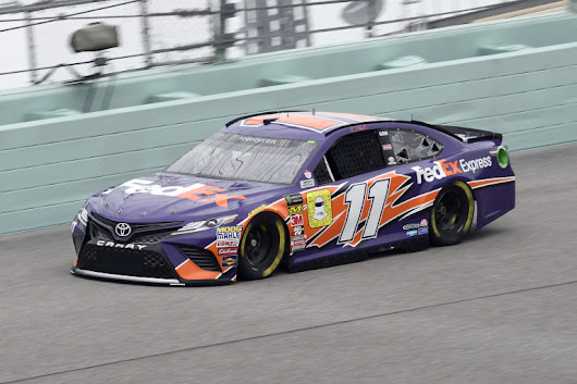 Denny Hamlin grabbed the pole at Homestead; Will he leave the first pit stall for his teammate? - Racing News