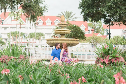 Orlando Engagement Photographer | Disney's Grand Floridian & Polynesian