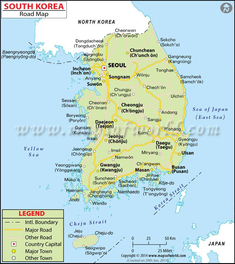 south korea road map