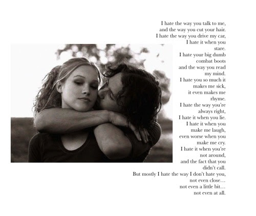 Love Heath Ledger Julia Stiles Hug 90s 90s Kid Poem 10 Things I Hate