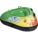 Bestway H2go Winter Rush Inflatable Kids Large Snow Tube w/ Fabric Cover, Green