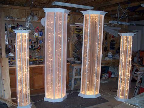 Image result for how to make DIY lighted wedding columns #