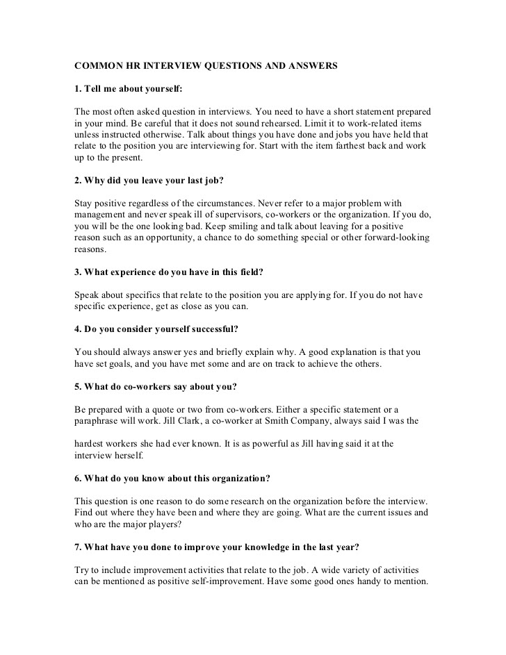 50 Common Interview Questions Answers PDF - Security ...