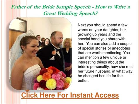 father   bride sample speech   write  great