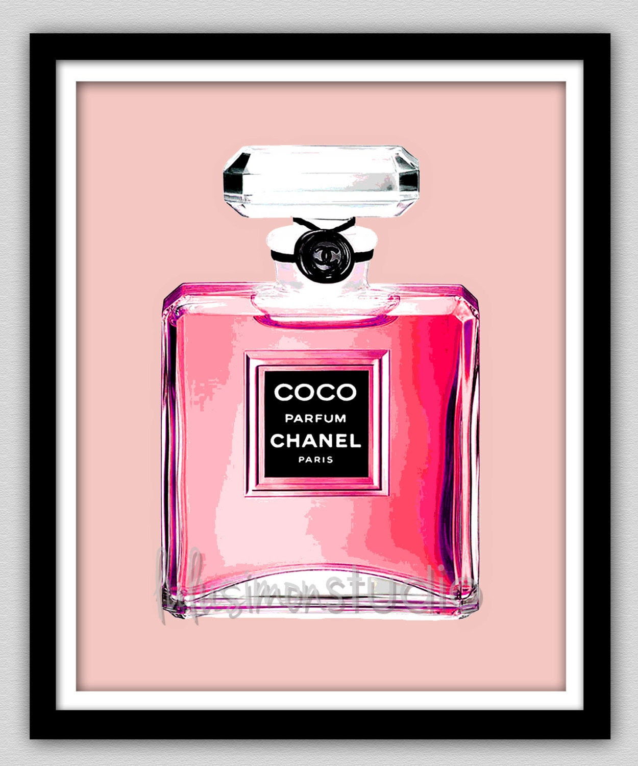 Wall Decor - Chanel - Chanel Print - Modern Home Decor - Chanel Perfume - Home Decor - Chanel Wall Art - COCO Chanel