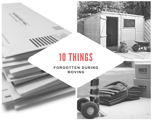 Forgotten Items in Moving | Stay Sane and Remember - Save this List!