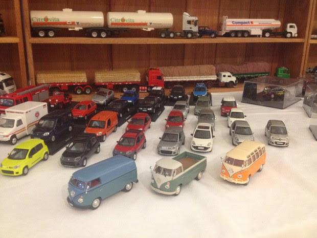 Miniaturas de carros populares fazem sucesso entre colecionadores no Amapá (Foto: John Pacheco/G1)