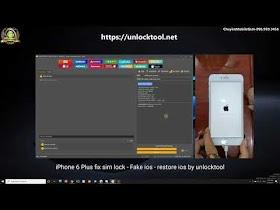iPhone 6Plus Fix Lock - Fake IOS - Restore IOS - By UnlockTool 2020 One Click Done! Step 2