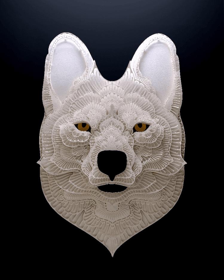 Art découpé de papier incroyable