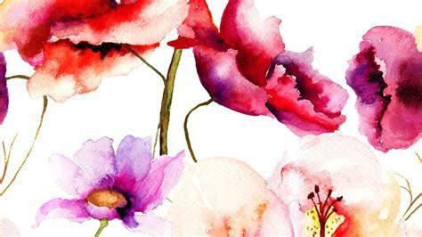 Beautiful art flower watercolor wallpaper   wallpaper.wiki