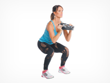 1. Weighted squats