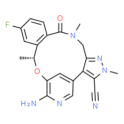 ChemSpider 2D Image | Lorlatinib | C21H19FN6O2