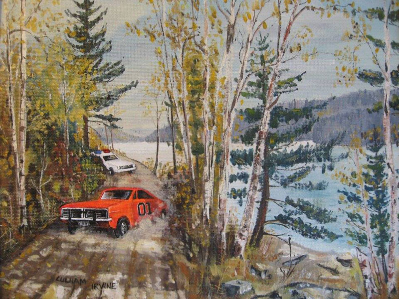 adding characters to thrift store paintings by david irvine gnarled branch (18)
