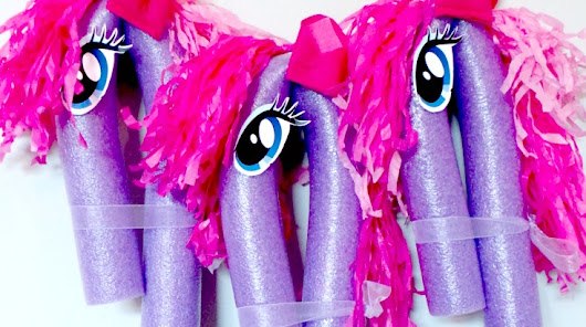 My Little Pony Inspired Stick Ponies - Ava's Alphabet
