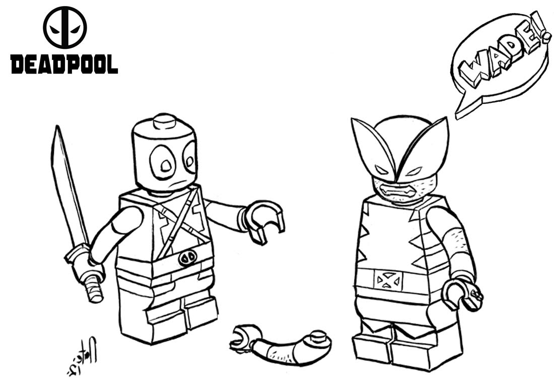 Lego Deadpool Coloring Pages Fighting - Free Printable ...