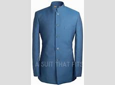 Nehru collared navy Première 2 Piece Suit with paraquette lining.   my ts   Mens fashion suits