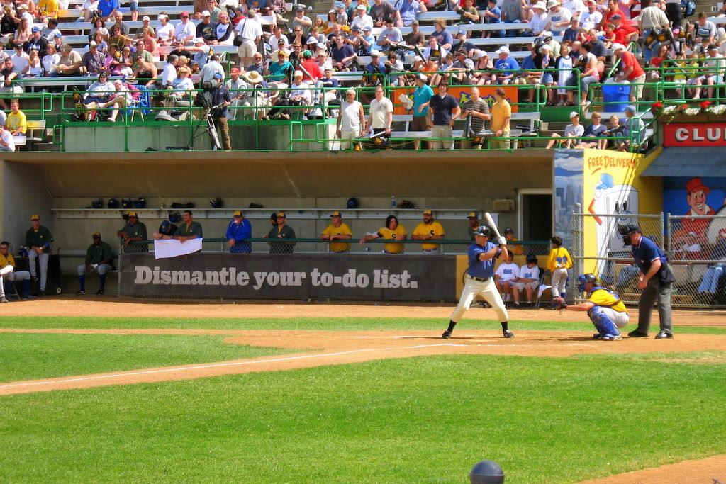 Outdoor baseball played at Midway Stadium between the Saint Paul Saints and Souix Falls Canaries.