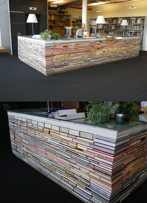 jonwithabullet:    Recycled Books Library Desk