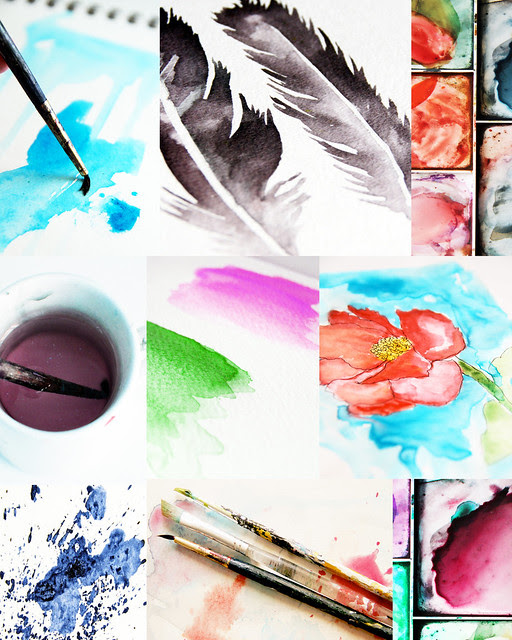 watercolor bliss online class