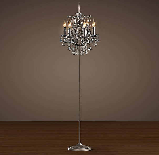 19th C. Rococo Iron & Crystal Floor Lamp Smoke | Floor Lighting ...